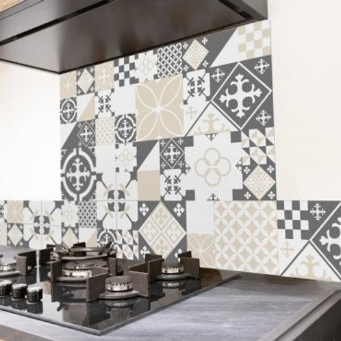99 DECO - Ciment Style Gris-Sable - Crédence de cuisine en ALU