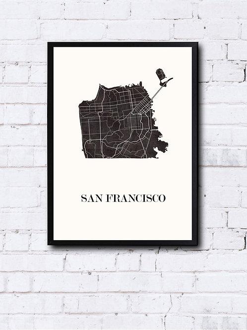 CIYOO- Carte design de SAN FRANCISCO