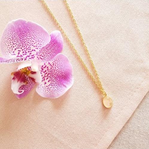 GINANDGER - Collier Solange Quartz rose