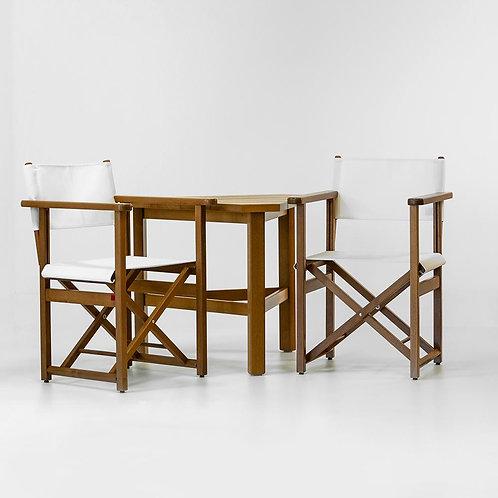 AZUR CONFORT - Ensemble de 2 fauteuils metteur en scène F204 et d'1 table T501