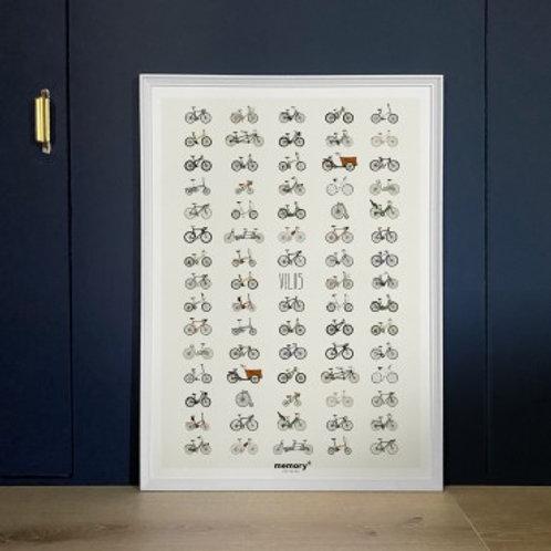 MEMORY AFFICHES - Affiche Vélos
