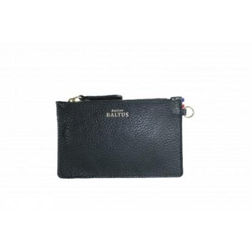 ATELIER BALTUS - Mini pochette Jade / Cuir noir
