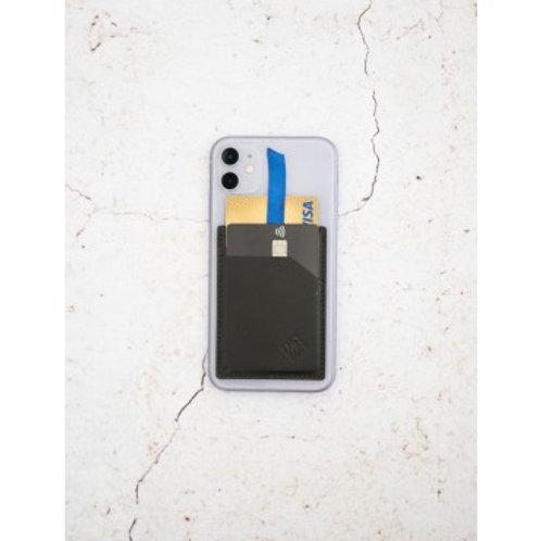CARDIEM - Porte-cartes en cuir avec initiales personnalisées sur smartphone