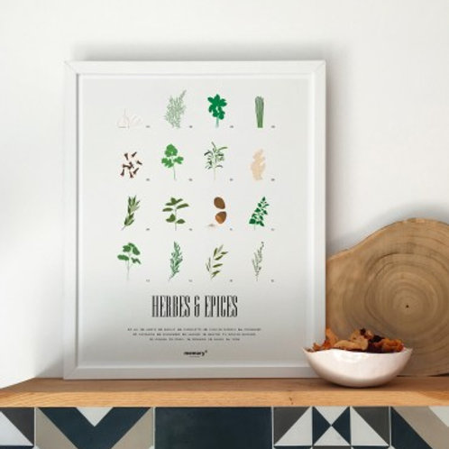 MEMORY AFFICHES - Affiche Herbes & Epices
