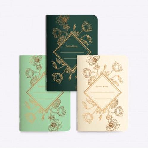 LES EDITIONS DU PAON - Trio petits carnets poppy
