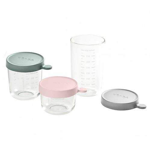 BEABA - Coffret 3 portions verre