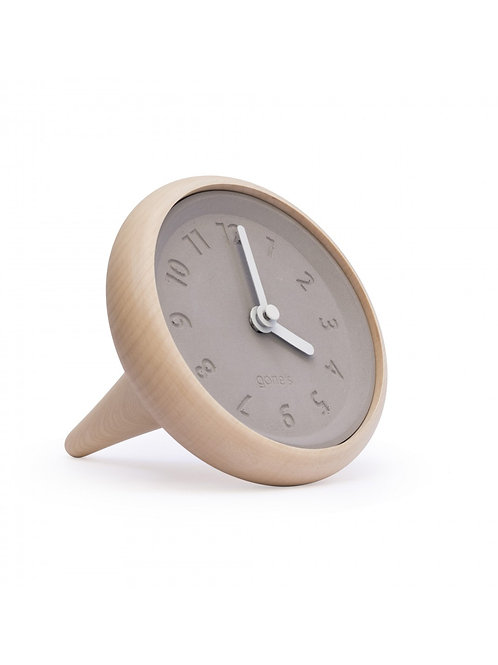 GONE'S - Horloge table design bois et béton