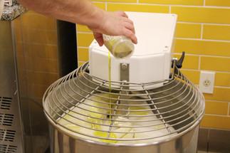 Adding Oil To Dough