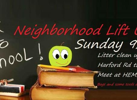 Sept 1 Back to School Neighborhood Lift Up!