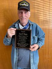 Thompson receives plaque