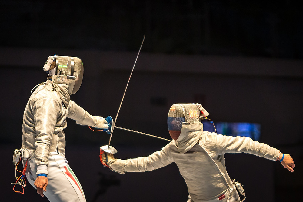 Fencing was just one of the Olympic sports with elated medal winners who pulled off the upset!