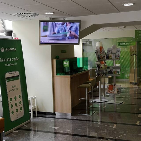 Sberbank digital display