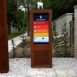 External digital touch screen Ptuj Memorial Park