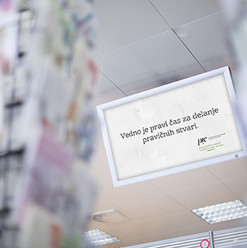 Digital displays of Pošta Slovenije