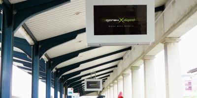 External digital displays at Ljubljana Railway Station