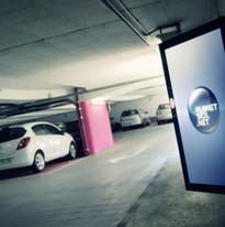 Digital displays at Trdinova Parking House