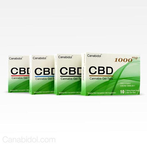 Canabidol Gel Tabs 100mg - 1000mg