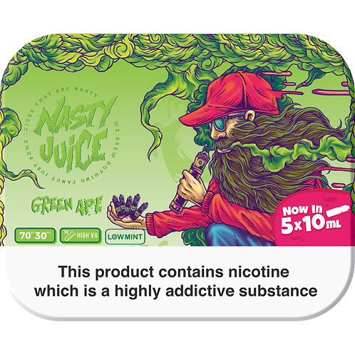 E-Liquid Nasty Juice 50ml 5*10ml Green Ape