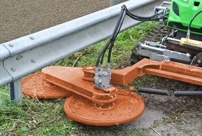Guard Rail Mower Attachment