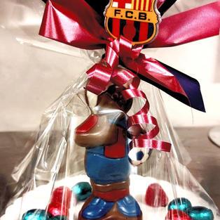 Figura de chocolate Barça