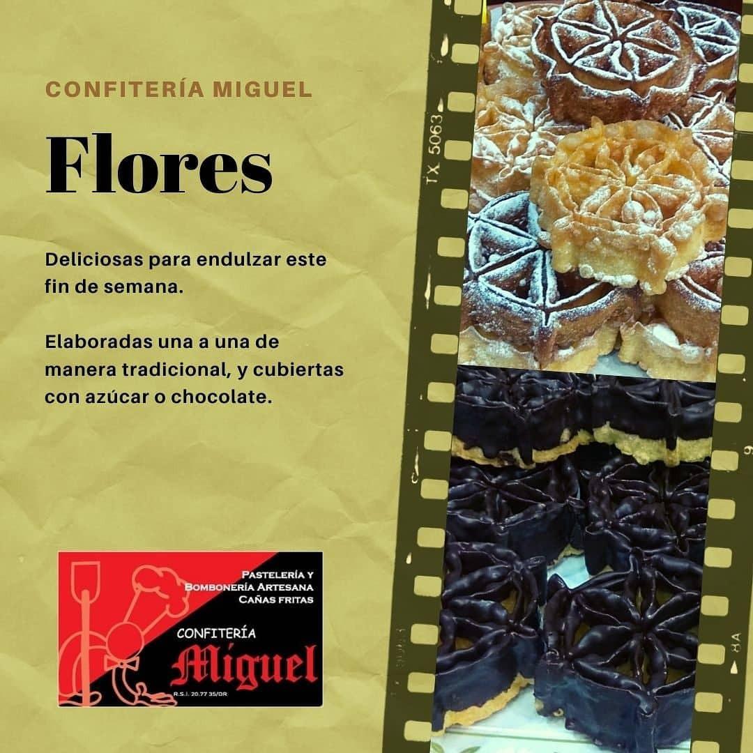 Flores de chocolate o azúcar