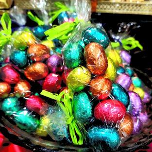 Bolsas de huevos de chocolate