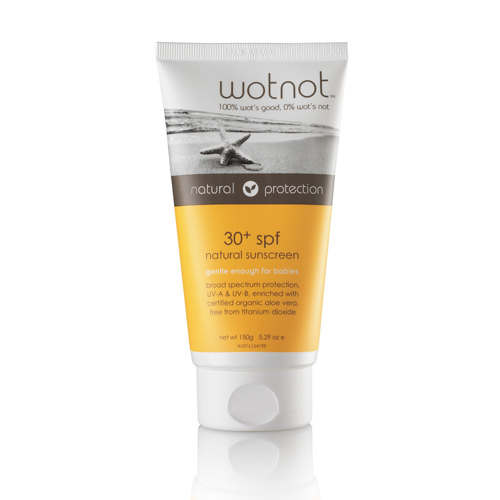Eco-friendly, natural and organic WOTNOT sunscreen