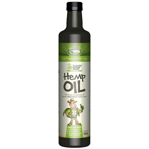 Organic Cold-pressed Hemp Seed Oil 500ml/bottle