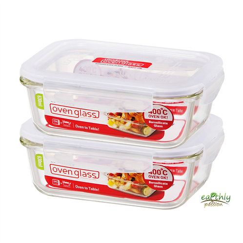 Lock & Lock Food Containers, Set of 2, 630mL