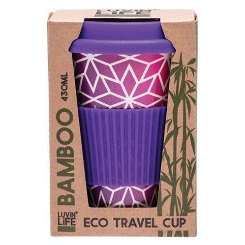 Luvin Life Eco Travel Cup Purple Stars