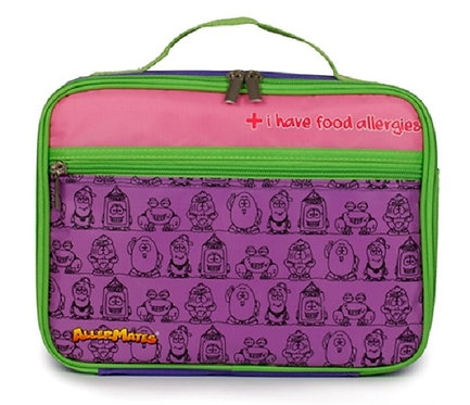 AllerMates I Have Food Allergies Eco Friendly Lunch Bag, purple