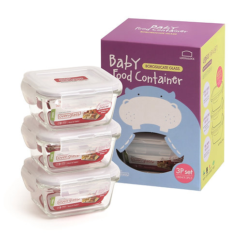 Lock & Lock Set of 3 Baby Food Containers