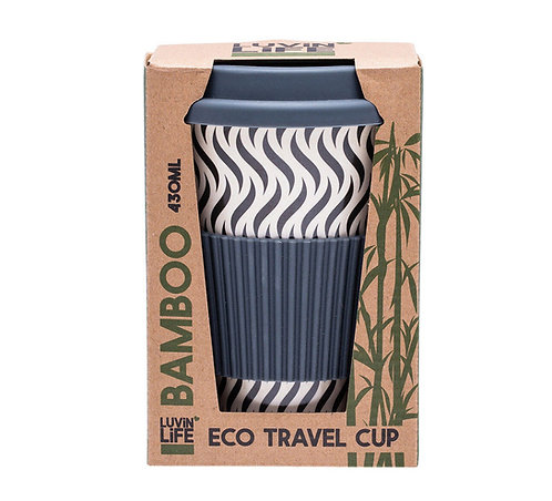 Luvin Life Eco Travel Cup Grey Wave