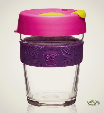 Reusable cups and flasks area available in our shop, like this KeepCup.