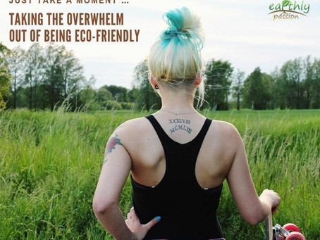 JUST TAKE A MOMENT - TAKING THE OVERWHELM OUT OF BEING ECO-FRIENDLY