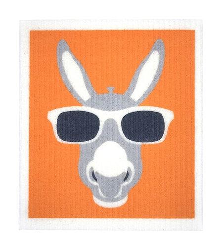Retro Kitchen Sponge Biodegradable Dish Cloth - Donkey