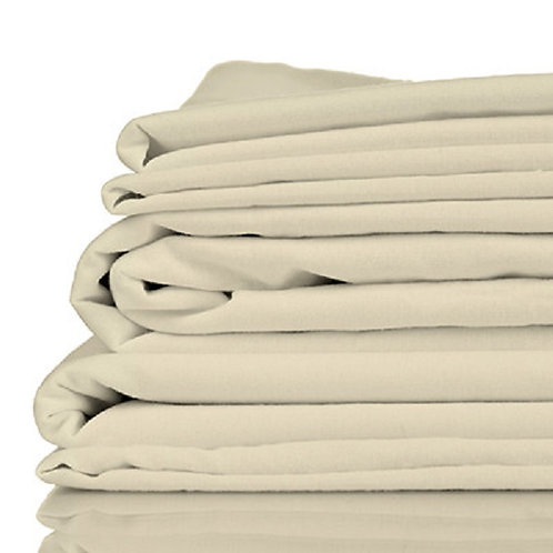 100% Organic Bamboo Twill Queen Size Bed Sheet Set, Oatmeal