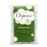 100% Organic Cotton Pads, 100 cotton pads per pack