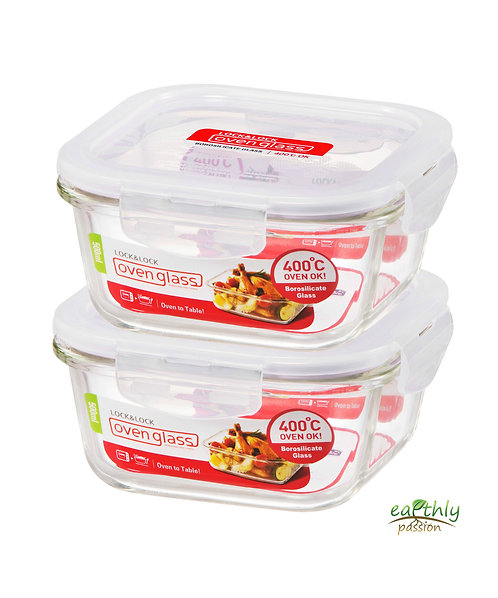 Lock & Lock Food Containers, Set of 2, 500mL