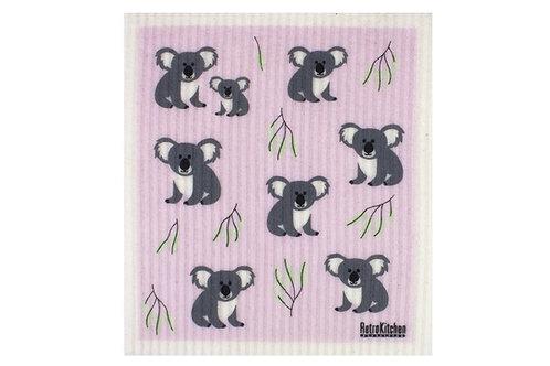 Retro Kitchen Sponge Biodegradable Dish Cloth - Koalas