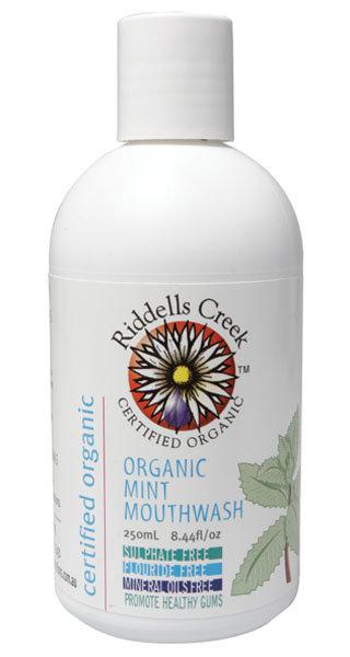 Riddells Creek Organic Mouthwash Mint, 250mL, 8.44