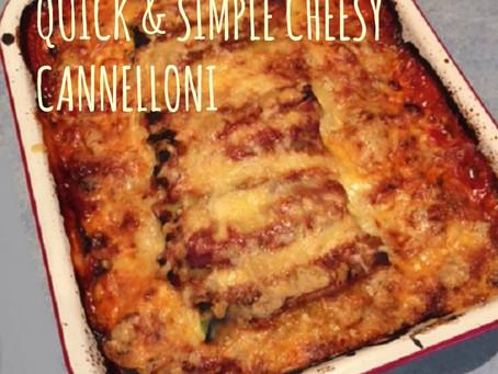 QUICK & SIMPLE CHEESY CANNELLONI