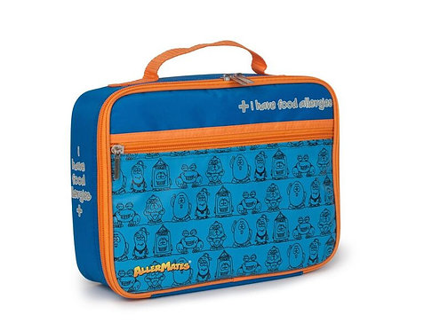 AllerMates I Have Food Allergies Eco Friendly Lunch Bag, blue