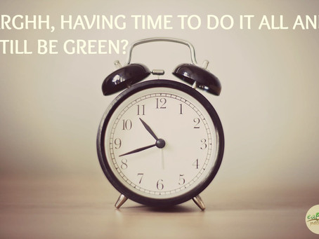 ARGHH, HAVING TIME TO DO IT ALL AND STILL BE GREEN?