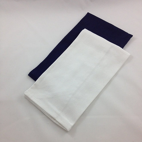 100% Cotton Tea Towels, Navy & White, 2 Pack