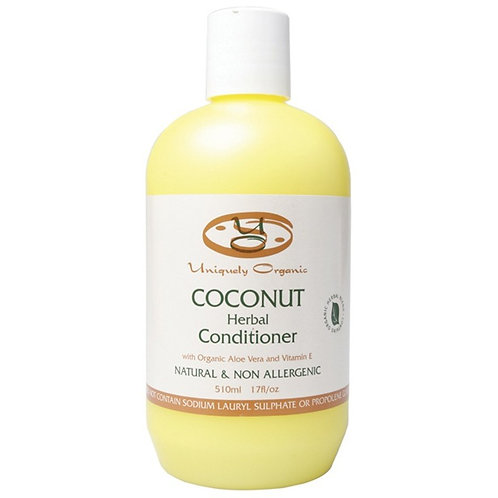 Uniquely Organics Coconut Conditioner, 510mL, 17fl