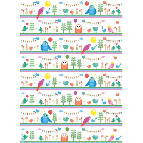Earth Greetings Wrapping Paper, Feathered Friends