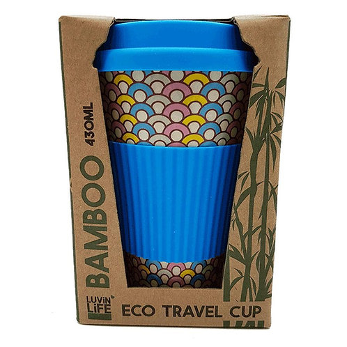 Luvin Life Eco Travel Cup Blue hoops