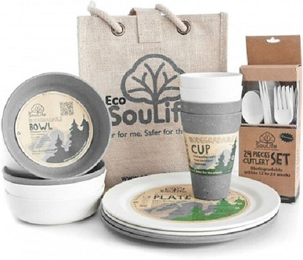 EcoSouLife Biodegradable Picnic Set, Swiss Alps