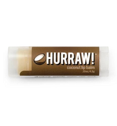 Hurraw! Lip Balm - Coconut 4.3g, 0.15oz each